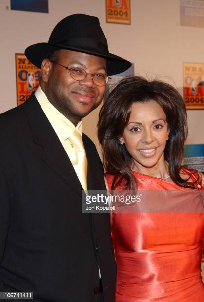Record Producer Jimmy Jam and wife Lisa arriving at the Official Tip-Off to NBA All-Star 2004 Entertainment, American Express Celebrates the...