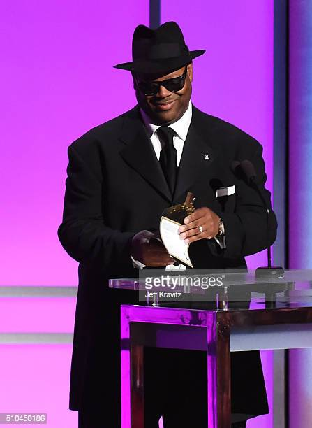 Record producer Jimmy Jam presents onstage during The 58th GRAMMY Premiere Ceremony at Los Angeles Convention Center on February 15 2016 in Los...