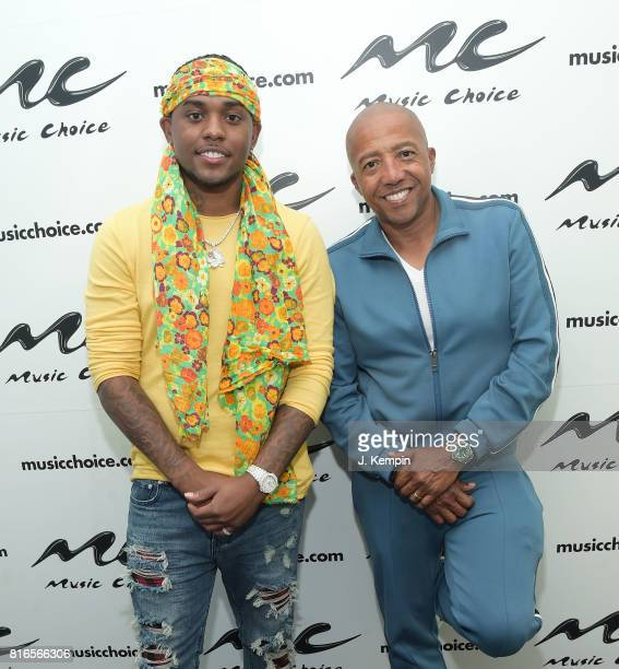 Record producer London on da Track and music executive Kevin Liles visit Music Choice Studios at Music Choice on July 17 2017 in New York City