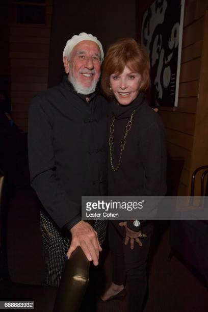 Record producer Lou Adler and actor Stephanie Powers attend an evening with Quincy Jones and The Jazz Foundation of America at Vibrato on April 9...
