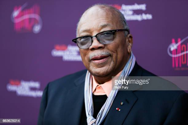 Record producer Quincy Jones arrives at Mancini Delivered A Musical Tribute To Ginny And Henry Manciniat the Wallis Annenberg Center for the...