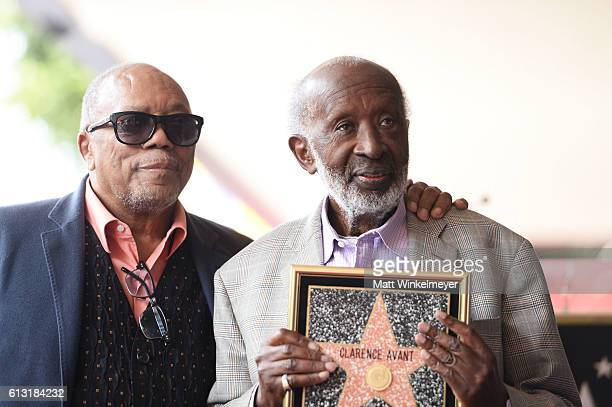 Record Producer Quincy Jones attends a ceremony honoring Music Executive Clarence Avant with a star on the Hollywood Walk of Fame on October 7 2016...
