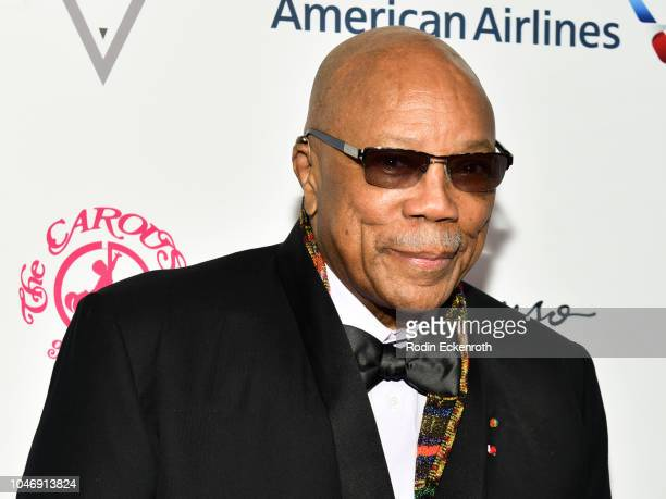 Record producer Quincy Jones attends the 2018 Carousel of Hope Ball at The Beverly Hilton Hotel on October 6 2018 in Beverly Hills California