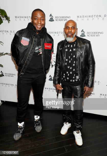 Record Producer Record Executive Lecturer and Rapper 9th Wonder and President of the Grammys DC Chapter Von Vargas attend The Recording Academy...