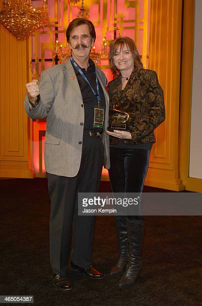 Record producer Rick Hall and Chair of the National Recording Academy's Board of Trustees Christine Albert at the Special Merit Awards Ceremony as...