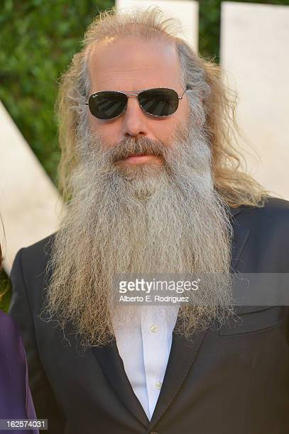 Record producer Rick Rubin arrives at the 2013 Vanity Fair Oscar Party hosted by Graydon Carter at Sunset Tower on February 24 2013 in West Hollywood...