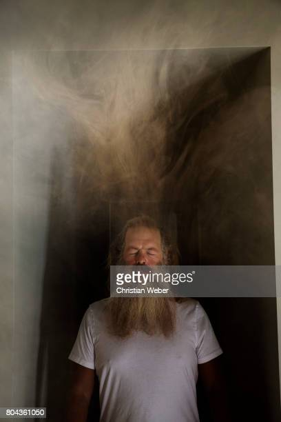 Record producer Rick Rubin photographed for Wired Magazine on November 14 2013 in Los Angeles California