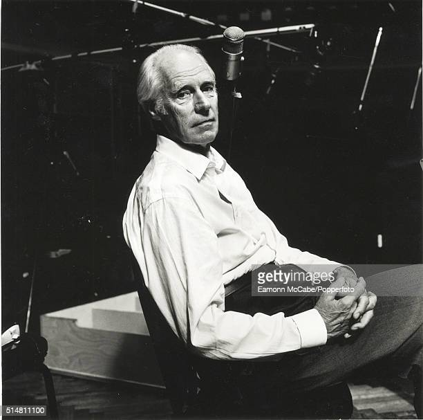 Record producer Sir George Martin posed in AIR Studios in Hampstead London on 9th May 2000