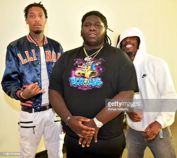 "Record Producer Young Chop and Guests attend ""A Keynote Conversation"" during 2019 A3C Festival & Conference at AmericasMart on October 10, 2019 in..."