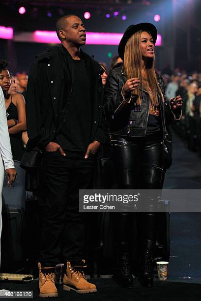 Record producer/recording artist JayZ and recording artist Beyonce attend Stevie Wonder Songs In The Key Of Life An AllStar GRAMMY Salute at Nokia...