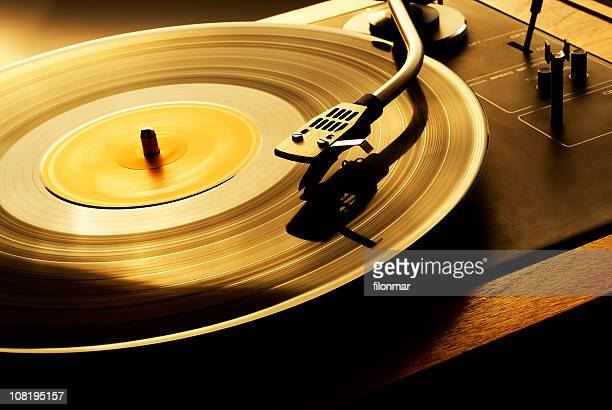 record spinning on turn table - gramophone stock pictures, royalty-free photos & images