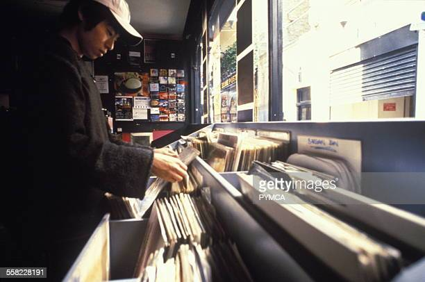 Record store, London, UK, 1990s.