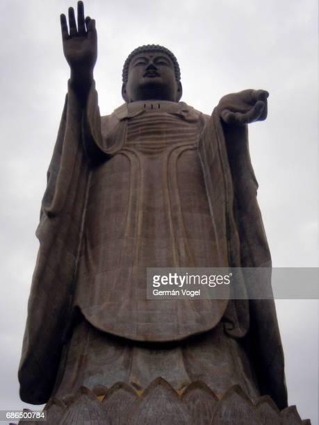 Record tall Ushiku Daibutsu Buddha statue - Japan