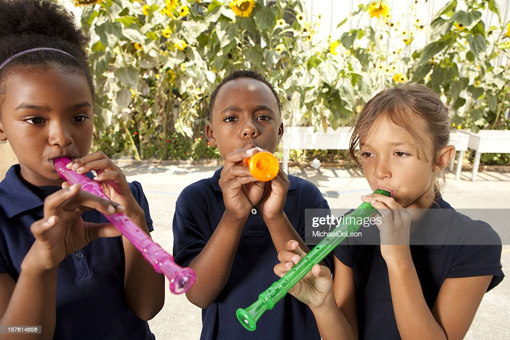 Recorder Playing : Stock Photo