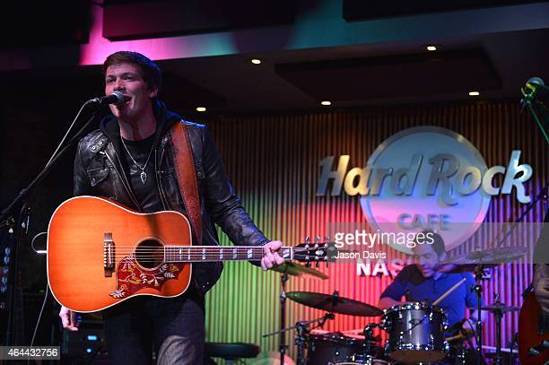 Recordign Artist George Birge of Waterloo Revival performs during an evening with Big Machine Label Group Artists The Cadillac Three Drake White And...