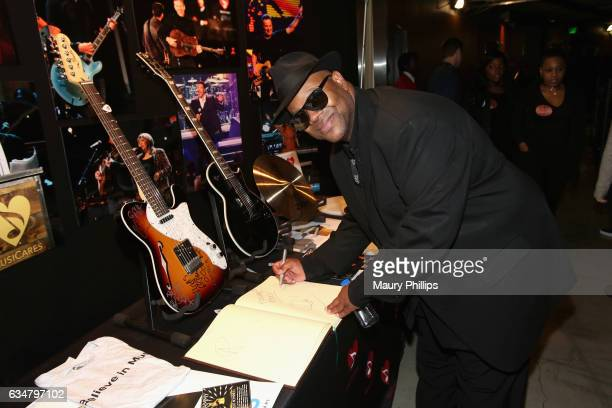 Recording Academy Chair Emeritus Jimmy Jam poses with the charities signings during the 59th GRAMMY Awards at STAPLES Center on February 11 2017 in...