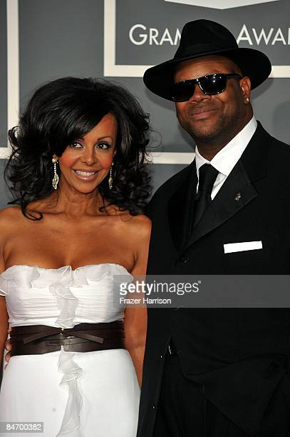 Recording Academy Chair Jimmy Jam and his wife Lisa Padilla arrive at the 51st Annual Grammy Awards held at the Staples Center on February 8 2009 in...
