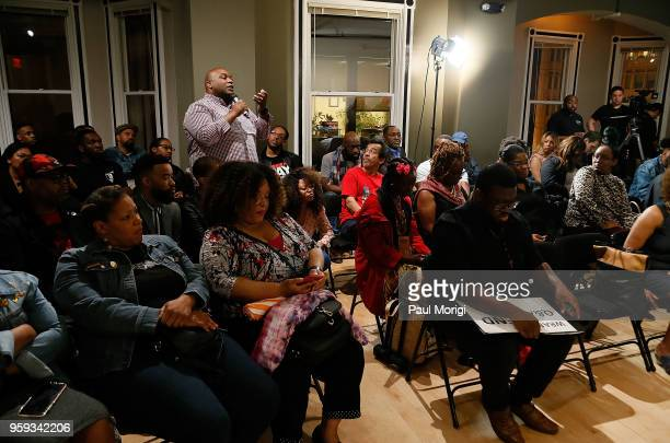Recording Academy member asks a question during a panel discussion at the Vocal Health Clinic event hosted by The Recording Academy WDC Chapter and...