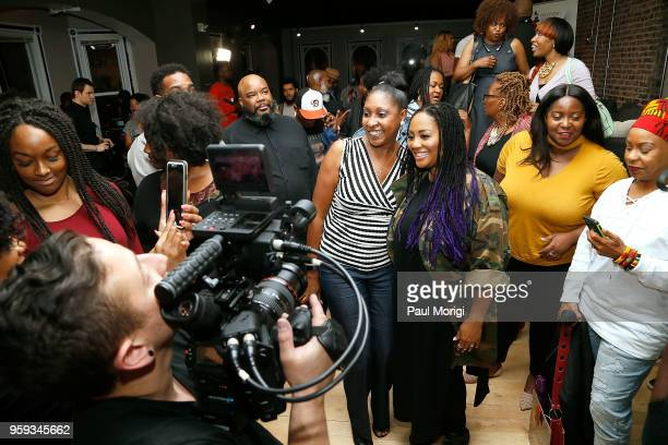 Recording Academy members mingle and take photos at the Vocal Health Clinic event hosted by The Recording Academy WDC Chapter and MusiCares at the...