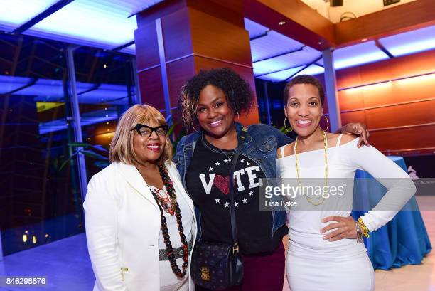 Recording Academy Members Sarah Dash Aliya Crawford and Aalyah Duncan attend the Advocacy Town Hall meeting at The Kimmel Center on September 12 2017...