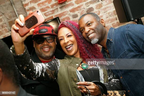 Recording Academy members taking selfies at the Vocal Health Clinic event hosted by The Recording Academy WDC Chapter and MusiCares at the National...