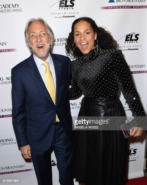 Recording Academy President and CEO Neil Portnow and Alicia Keys attend the Recording Academy Producers Engineers Wing 11TH annual GRAMMY¨ Week event...
