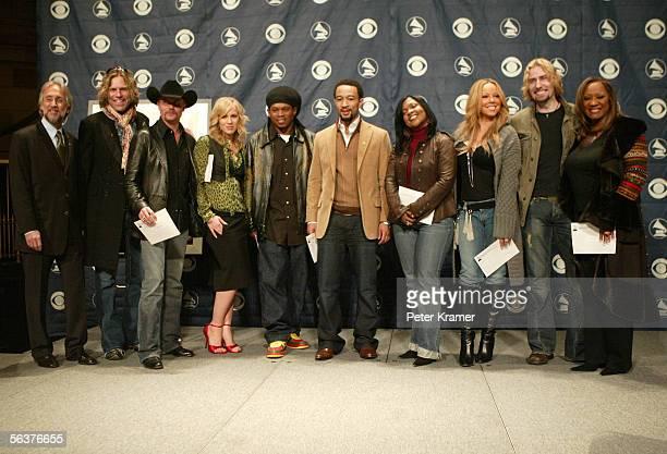 Recording Academy President Neil Portnow Big Kenny and John Rich of Big Rich Natasha Bedingfield MTV VJ Sway singers John Legend CeCe Winans Mariah...