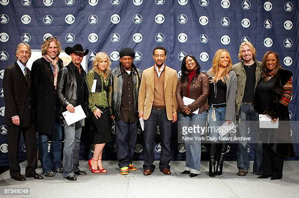 Recording Academy President Neil Portnow country stars Big Kenny and John Rich Natasha Bedingfield Sway John Legend CeCe Winans Mariah Carey Chad...
