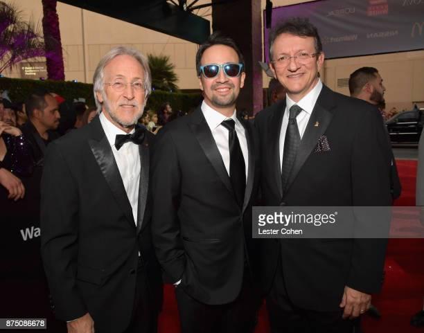 Recording Academy President Neil Portnow LinManuel Miranda and Latin Recording Academy President/CEO Gabriel Abaroa attend The 18th Annual Latin...