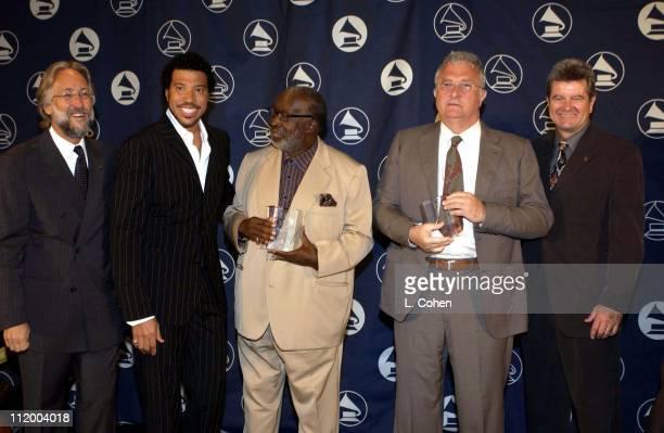 Recording Academy President Neil Portnow Lionel Richie Clarence Avant Randy Newman and Daniel Carlin