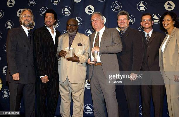 Recording Academy President Neil Portnow Lionel Richie Clarence Avant Randy Newman Daniel Carlin Jonathan McHugh and Angelia BibbsSanders