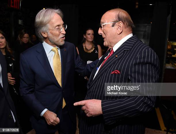 Recording Academy President/CEO Neil Portnow and Clive Davis attend the 2018 Billboard Power 100 celebration at Nobu 57 on January 25 2018 in New...