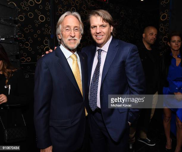Recording Academy President/CEO Neil Portnow and Todd Boehly attend the 2018 Billboard Power 100 celebration at Nobu 57 on January 25 2018 in New...