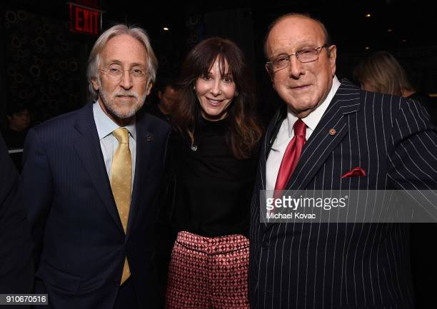 Recording Academy President/CEO Neil Portnow Chairman/CEO of Universal Music Publishing Group Jody Gerson and Clive Davis attend the 2018 Billboard...