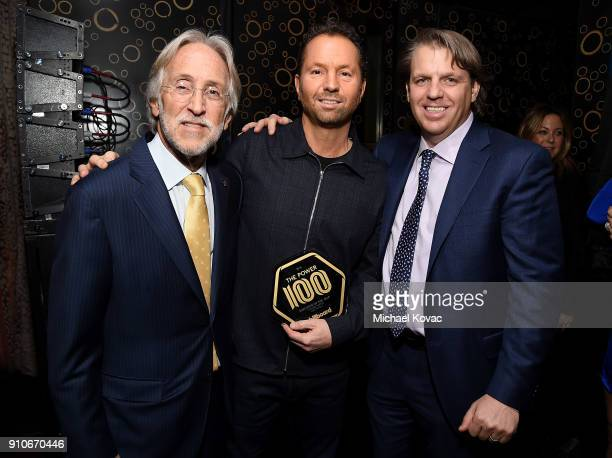 Recording Academy President/CEO Neil Portnow Live Nation CEO Michael Rapino and Todd Boehly attend the 2018 Billboard Power 100 celebration at Nobu...