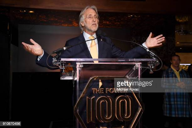 Recording Academy President/CEO Neil Portnow presents onstage at the 2018 Billboard Power 100 celebration at Nobu 57 on January 25 2018 in New York...