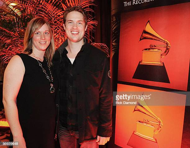 Recording Academy's Ashley Lamb Ernst and Grammy Nominee Jonny Lang during the GRAMMY Nominee Party at the Loews Vanderbilt Hotel on January 21 2010...