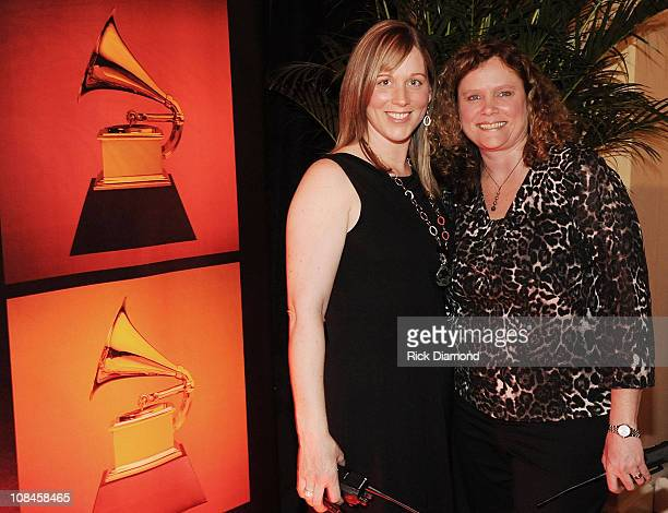 Recording Academy's Ashley Lamb Ernst and Recording Academy Sr project mananger Lyn Aurelius during the GRAMMY Nominee Party at the Loews Vanderbilt...