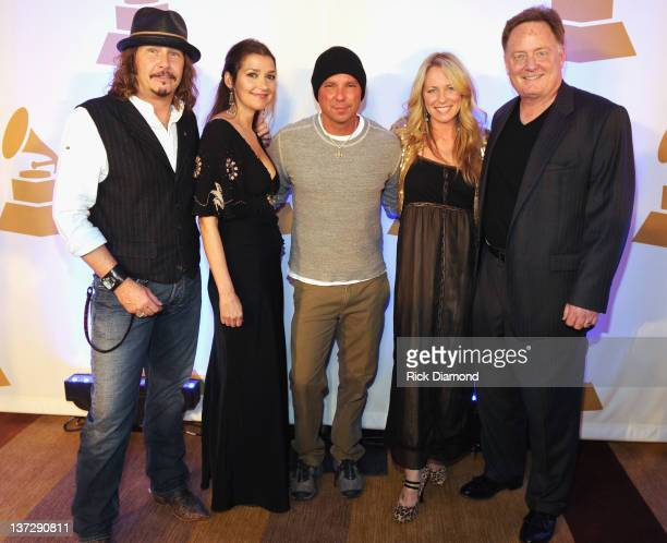 Recording Academy's George Flanigen Grammy nominated Songwriters Matraca Berg and Deana Carter along with Recording Artist Kenny Chesney and Gary...