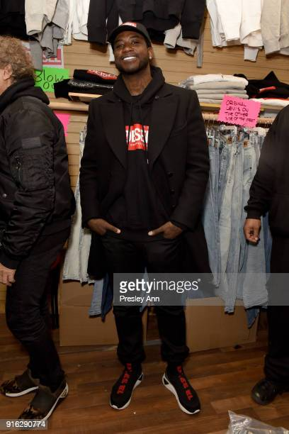 Recording aritst Gucci Mane attends Diesel's opening of a real knockoff store on Canal Street during NY Fashion Week on February 9 2018 in New York...