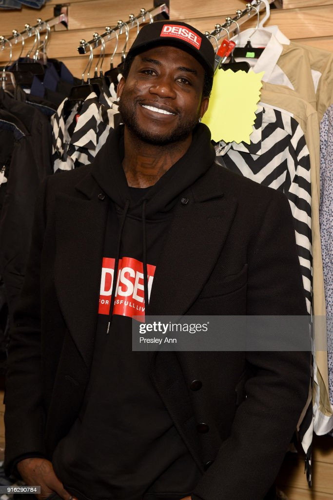 Recording aritst Gucci Mane attends Diesel's opening of a real knock-off store on Canal Street during NY Fashion Week on February 9, 2018 in New York City.