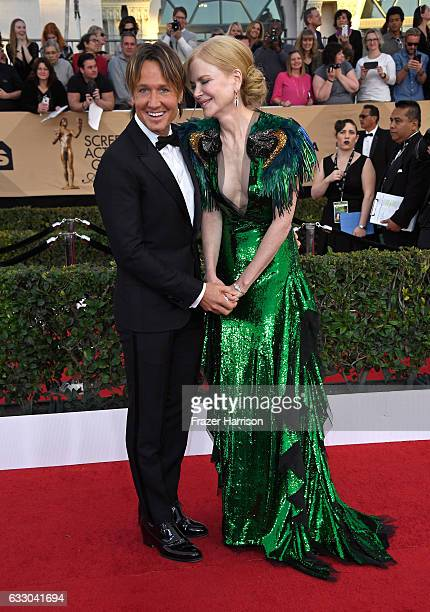 Recording arrtist Keith Urban and actor Nicole Kidman attends The 23rd Annual Screen Actors Guild Awards at The Shrine Auditorium on January 29 2017...