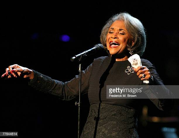 Recording artisit Nancy Wilson performs during the Thelonious Monk Jazz Tribute Concert For Herbie Hancock at the Kodak Theatre on October 28 2007 in...
