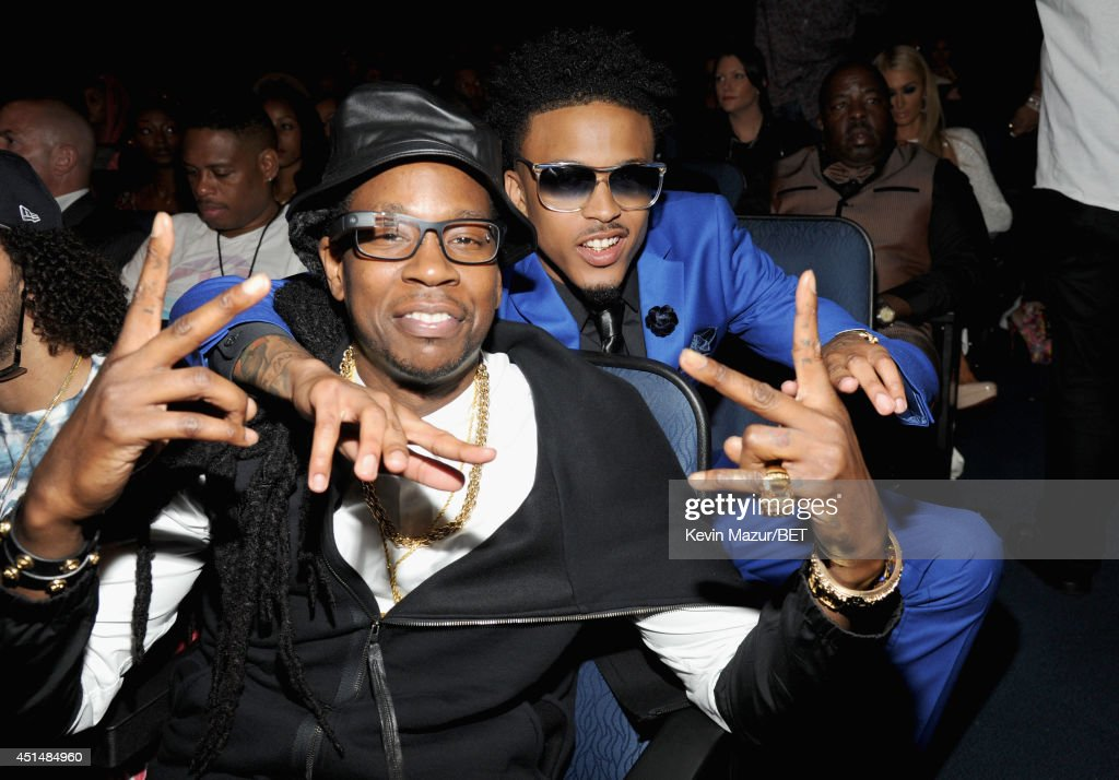 Recording artist 2 Chainz (L) and singer August Alsina attend the BET AWARDS '14 at Nokia Theatre L.A. LIVE on June 29, 2014 in Los Angeles, California.