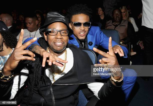Recording artist 2 Chainz and singer August Alsina attend the BET AWARDS '14 at Nokia Theatre LA LIVE on June 29 2014 in Los Angeles California