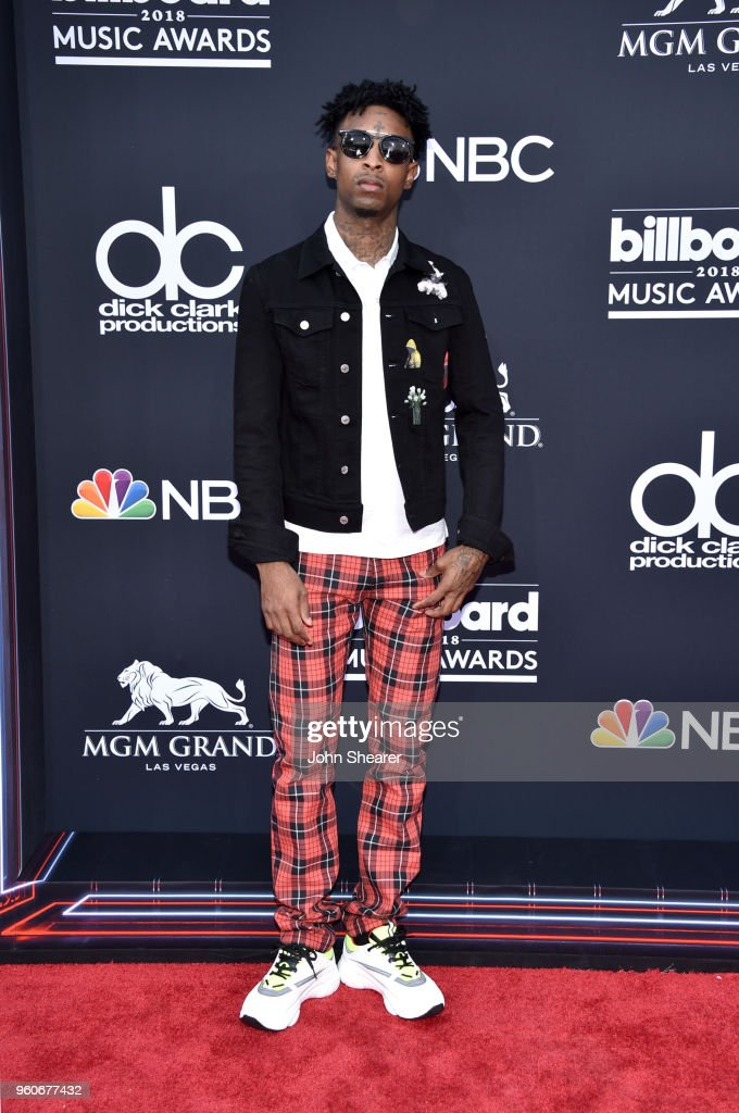 Recording artist 21 Savage attends the 2018 Billboard Music Awards at MGM Grand Garden Arena on May 20, 2018 in Las Vegas, Nevada.
