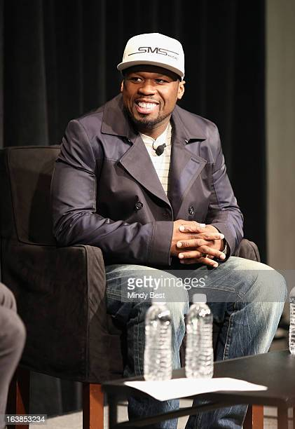 Recording artist 50 Cent speaks onstage at SXSW Interview 50 Cent during the 2013 SXSW Music Film Interactive Festival at Austin Convention Center on...