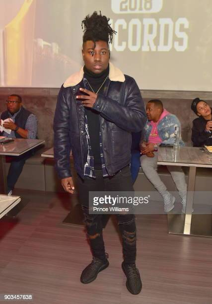 Recording artist 5am attends the 2018 Interscope National Championship Watch Party at Bytes Restaurant on January 8 2018 in Atlanta Georgia