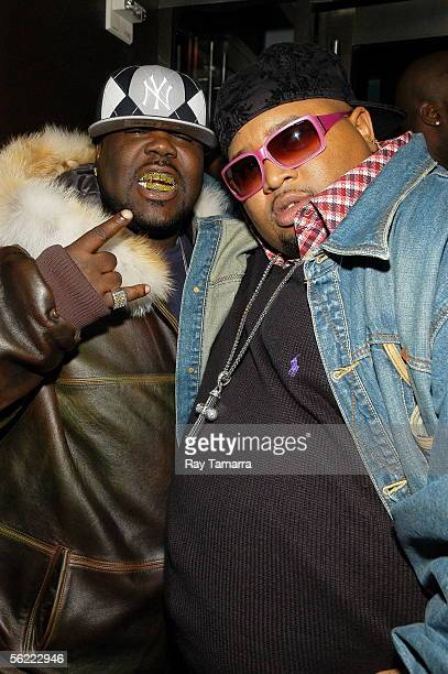 Recording artist 8Ball and producer Jazze Pha attend the Notorious BIG Duets Remix Video Shoot at the Dream Hotel November 17 2005 in New York City...