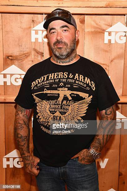 Recording Artist Aaron Lewis attends the HGTV Lodge during CMA Music Fest on June 11 2016 in Nashville Tennessee